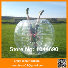 1.0mm PVC 1.7m funny top quality 0.8mm PVC inflatable bubble football/soccer, bubble football
