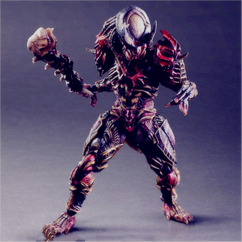 Alien vs. Predator Play Arts Kai Predator Alien Hunter With Stents PVC Action Figure Model Giocattolo G1469 6pcs set alien vs predator mini classic predator pvc brinquedos collection figures toys with retail box anno00395a
