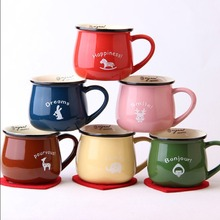 Neue KEYAMA bonbonfarben multicolor keramik frühstück milch becher Büro kaffeetassen geschirr urlaub geschenk Gelegentliche muster