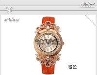 Luxury Vintage Palace Style Women Rhinestone Watches MELISSA Romantic Flower Dress Wrist watch Quartz Analog Clock Montre femme