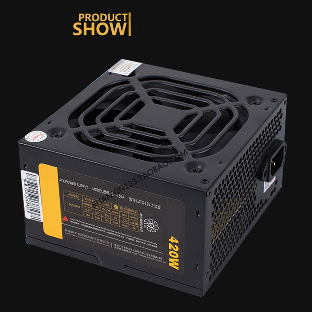 420W Power Supply Silent Fan Computer Gaming PC Power Supply For Desktop Computer420W Power Supply Silent Fan Computer Gaming PC Power Supply For Desktop Computer