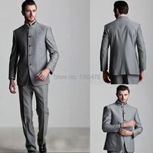 2016 Fashion Men Suits Silver Groom Tuxedos Formal Best Men s Suits Groomsman Bridegroom Wedding Jacket
