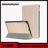 Hot Sale Stand PU Leather Case For New IPad 9 7 2017 Cases Cover A1822 A1823
