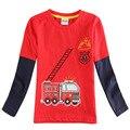 Ropa de los muchachos, niños de la marca camiseta, muchachos niños rojo camisetas, ropa para niños, camisetas para niños, niños del bebé camisetas enfant