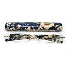 Mulheres Flor Presbiopia Óculos de Leitura Caso Resistência para 1.0 1.5 2.0  para 4.0 PC leve Integralmente E 008 ccd1c29b50