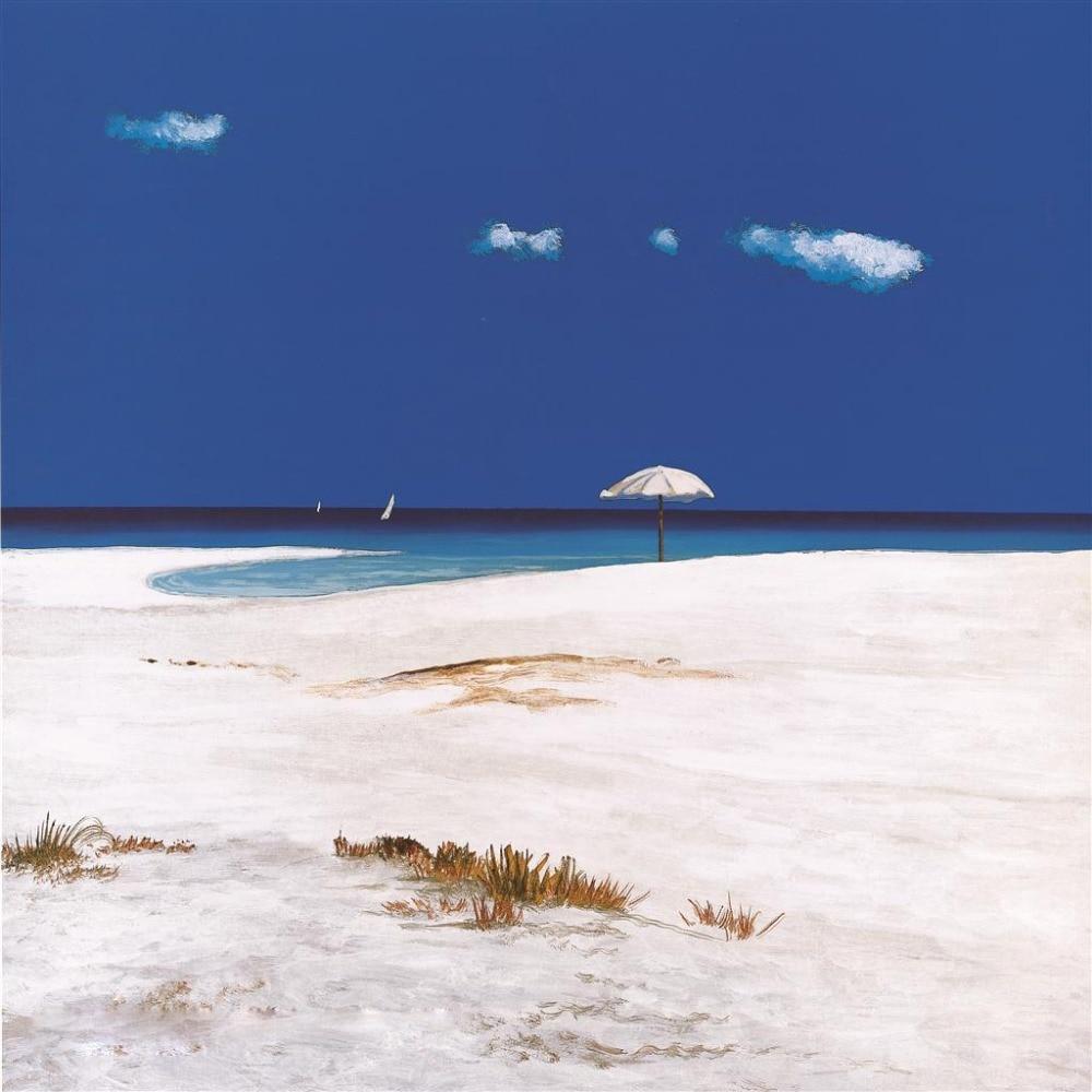 Moderní abstraktní umění domova Art Crazy Blue Sky Olejomalba Ručně malované nástěnné umění na plátně Nástěnné samolepky Krajina Obrazy