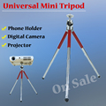 New Mini Camera Tripod Lightweight Flexible Table Portable Tripod length 13-27cm Max Load 1kg with Phone Holder for DV Camera