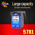 1 PCS 57 57XL C6657A Tri-color C M Y Remanufactured Ink Cartridge For HP Deskjet 450CI 5550 5552 7150 7350 7000 2100 2200