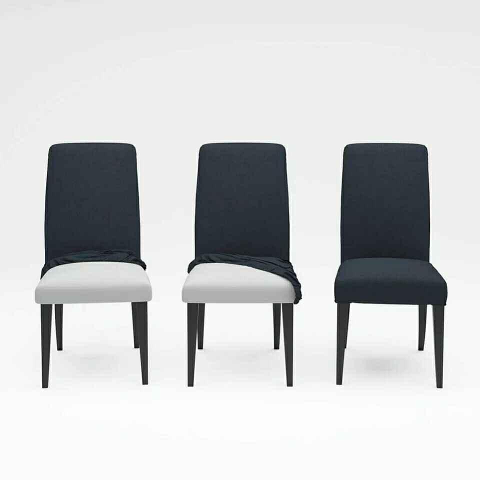 Cubierta de silla de Color sólido gris de LICRA de oficina de escritorio de cocina cubierta de silla removible para bodas banquete coprisedie