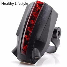2 Laser+5 LED Rear Bike Bicycle Tail Light Beam Safety Warning Red Lamp Bike Accessories Sports & Outdoors Hot Wholesale Feb 15