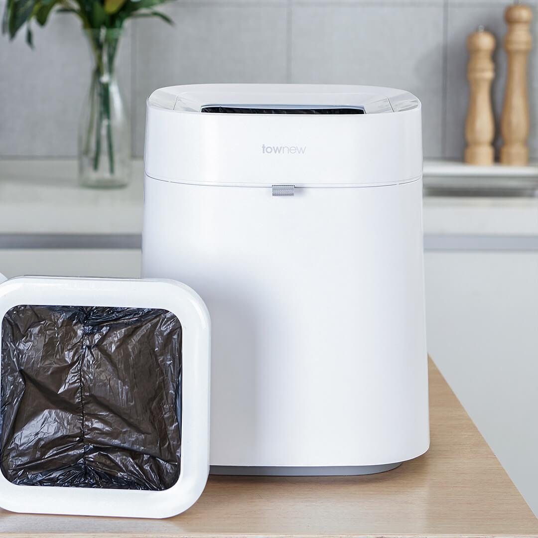 Xiaomi Townew 284x284x342mm T Air poubelle intelligente peut déchets poubelles automatique étanchéité muet Mintpass poubelle