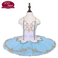 89b57ceed3 Girls White Ballet Tutu Sleeping Beauty Performance Stage Wear Kids Blue Ballet  Dance Competition Costumes Women