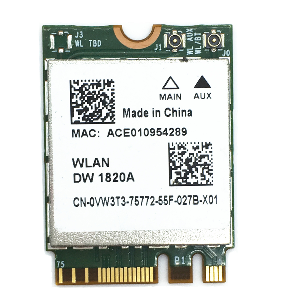 Wifi DW1820A BCM94350ZAE Wireless Card 867mbps BT4.1 M.2/NGFF
