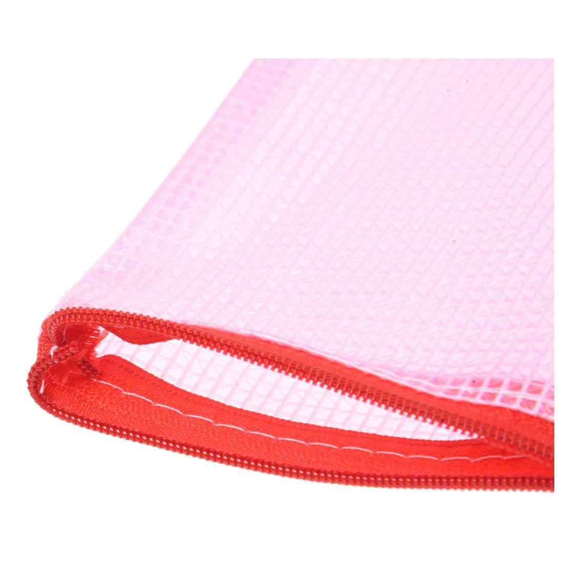 10 pces rede superficie a3 documento titular ziper saco multicolorido 04