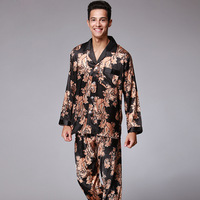New couple pajamas set New men's long sleeved trousers big cashew pajamas Two piece home furnishing