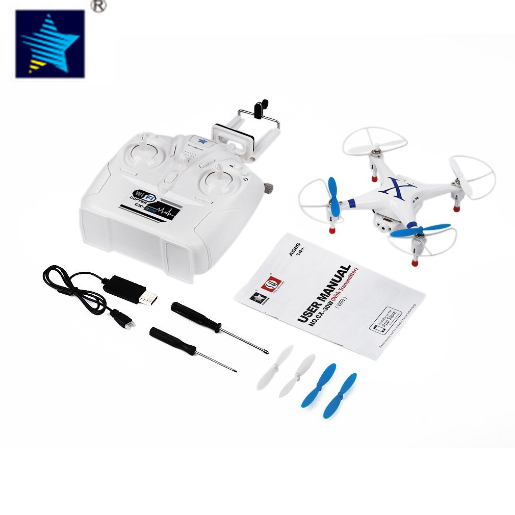 RC Helicopter Blue FPV Wifi Quadcopter Drone for Cheerson CX-30W-TX Phone Control Professional 2.4G 4 Axis Gyro With HD Camera cheerson cx95w cx 95w 4axis rc drone remote control wifi dh camera quadcopter helicopter aircraft air plane children gift toys