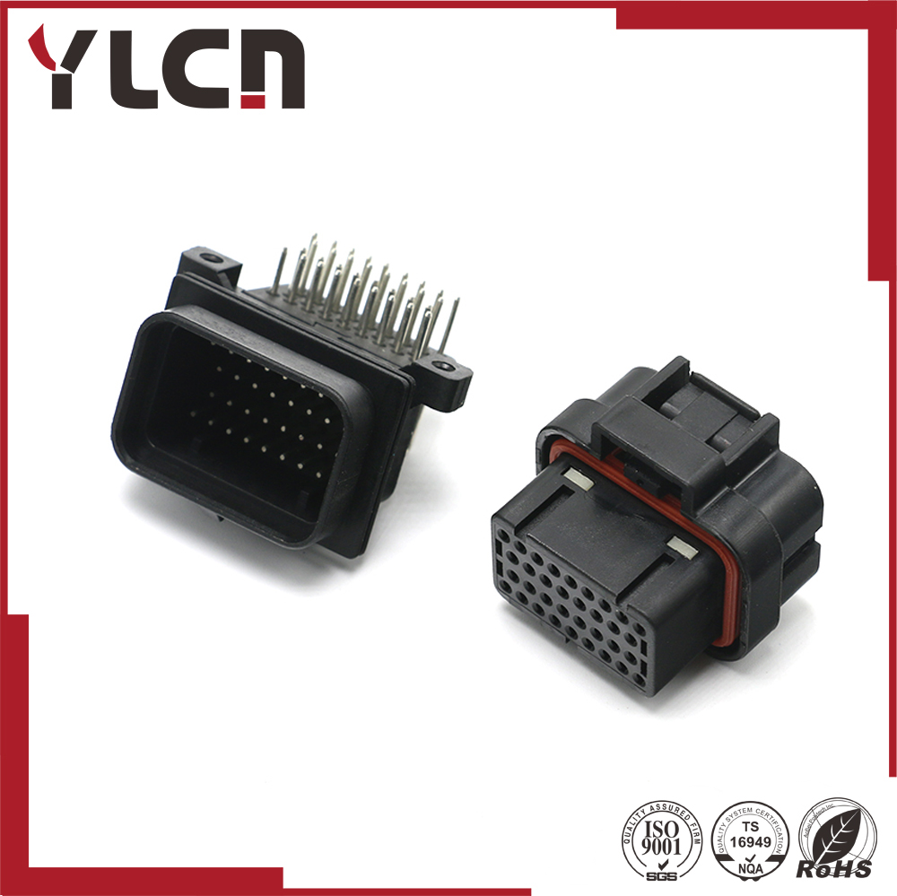 34 Pin  SUPERSEAL 1.0 HOUSINGS connector PLUG 4-1437290-0 With Terminals 3-1447221-3 bonatech 03120229 xh2 54 4 pin w connectors plug straight needle seat terminals 10pcs