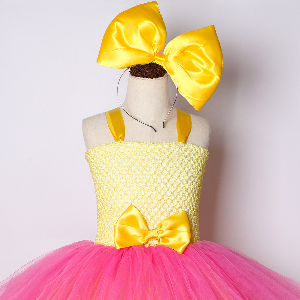 Image 5 - Girls Lol Tutu Dress Cute Princess Cartoon Doll Girl Birthday Party Dress for Kids Girl Christmas Halloween Lol Cosplay CostumeDresses   -