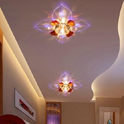 modern hallway lighting modern apartment building 3w modern led ceiling spotlights crystal balcony hallway living room light abajur luminaria fixtures ac200v