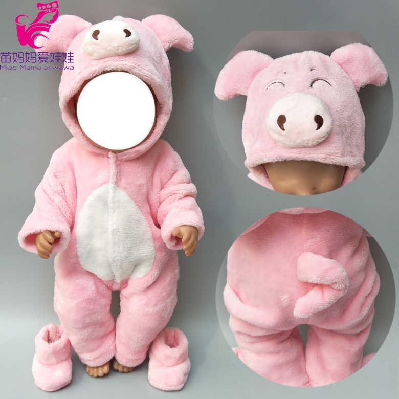 Одежда для куклы-младенца для 40 см Кукла одежда мальчиков брюки девочек серый мышь комплект 17 дюймов кукла Мех животных комбинезон