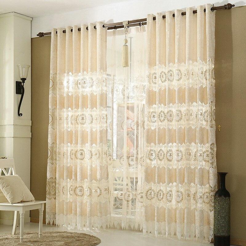 Zhh Europischen Gold Samt Hohle Vorhang Fr Schlafzimmer Wohnzimmer Bestickt Gardinen Luxus Vorhnge Kinder Zimmer