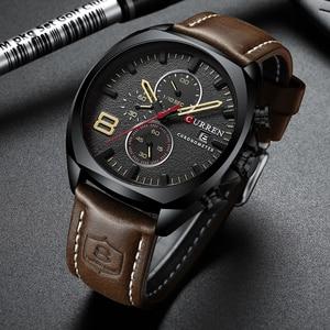 Image 3 - Nieuwe heren Horloges Top Brand Luxe CURREN Nieuwe Militaire Lederen Quartz Horloge Mannen Sport Horloge Relogio Masculino Mannelijke Uur