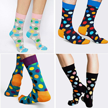 Colorful Printing Dots Women Socks Spring Autumn Style Short Ankle Socks With Print Cute Funny Socks Women Cotton Socks