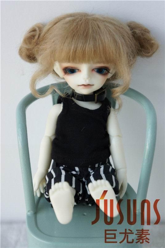 JD406 1/12 Cute Two pony mohair BJD doll wig 4-5 inch fashion wigs Doll accessories uncle 1 3 1 4 1 6 doll accessories for bjd sd bjd eyelashes for doll 1 pair tx 03