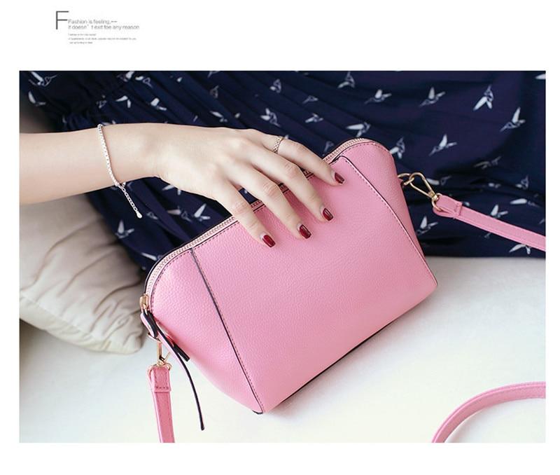 Trendy Japanese and Korean simple shell bag Fashion matches everything female bag small bag single shoulder Messenger bag 39
