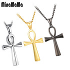 Silver Gold Black Color Vintage Stainless Steel Ankh Neckalces For Men Women Egyptian Male Necklaces Jewelry