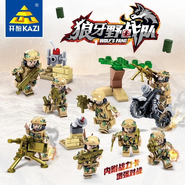 82015 480pcs Military Soldier Figure Constructor Model Kit Blocks Compatible LEGO Bricks Toys for Boys Girls Children Modeling