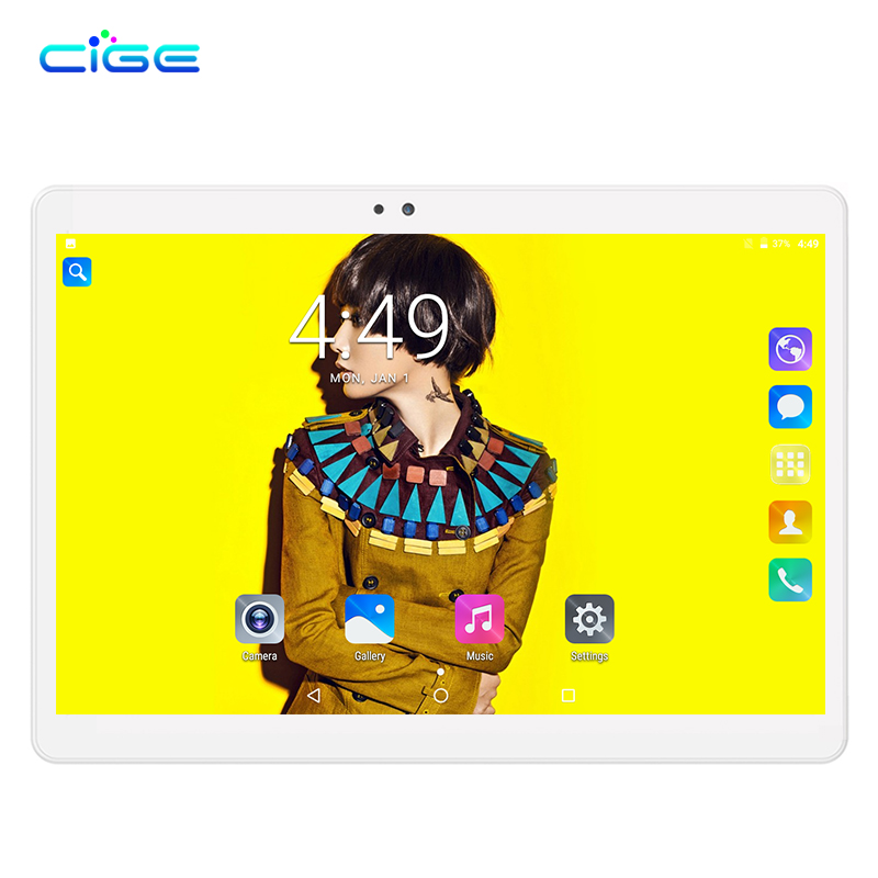 CIGE 2018 Newest 10 inch Tablet PC MTK8752 Octa Core 4GB RAM 32GB 64GB ROM Android 7.0 3G 4G 2.5D Screen 10.1 Tablets newest 10 1 inch 2 5d glass screen tablet pc octa core android 7 0 call ram 4gb rom 32gb 64gb tablets pcs smart phone pad gift