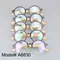 A6830 montura Completa ronda miopía spectacle gafas de prescripción de bambú templo marcos ópticos