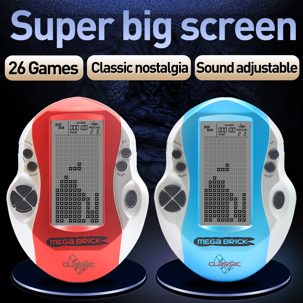 Kids Console Game Retro Mega Tetris High Quality Spilkonsol julegaver Legetøjskonsol Big Screen Tetris Game Console