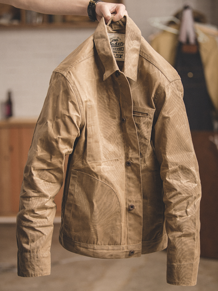 detachable hood hooded Sherwood unisex TRADITIONAL warm cotton wax jacket