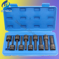 "10pcs 1/2"" DR.Impact Spline Bit Socket Set M5 M6 M8 M9 M10 M11 M12 M14 M16 M1878mm length"