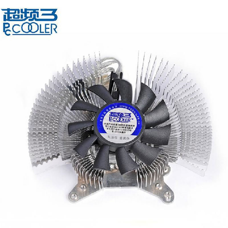 aluminum 6cm fan Multiporous graphics card heatsink VGA fan Cooling graphics Cooler PcCooler K60 copper plating video display graphics card cooling fan w heatsink golden translucent