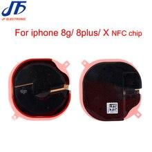 10 sztuk/partia dla iPhone 8 8g plus NFC bezprzewodowy Panel ładowania cewki naklejki Flex Cable wstążka dla iphone X XR XS MAX NFC chip