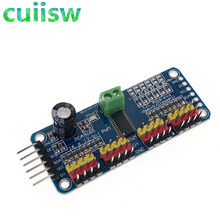 16 Channel 12-bit PWM/Servo Driver-I2C interface PCA9685 module for arduino or Raspberry pi shield module servo shield(China)