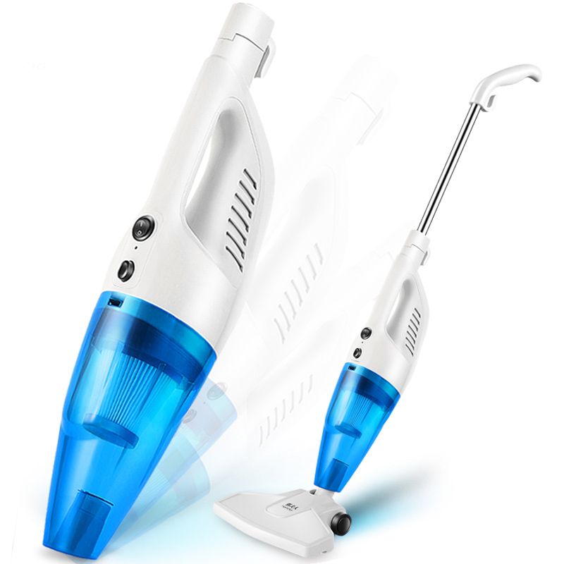Ultra Quiet Mini Home Rod Vacuum Cleaner Portable Dust Collector Home Aspirator White Blue Color
