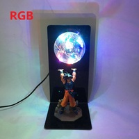Dragon Ball Z Goku Spirit Bomb Table Lamp Luminaria LED Night Lights Bedroom Decorative Desk lamps Holiday gifts 5 Color Decor