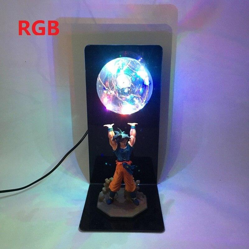 Dragon Ball Z Goku Esprit Bombe Table Lampe Luminaria LED Night Lights Chambre Décoratif Bureau lampes Vacances cadeaux 5 Couleur décor