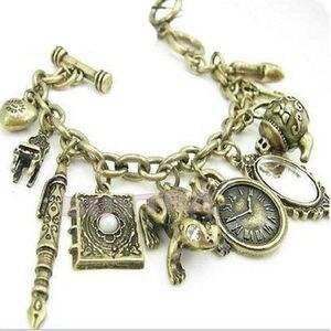 Bracelets et Bracelets multi-pendentifs chauds avec horloge miroir horloge poudre boîte manchette Bracelets pour femme dames bohème Boho