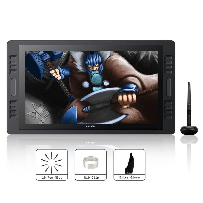 HUION kamvas Pro 20 19.53 polegada 8192 Níveis de Bateria-free Pen Tablet Monitor Gráficos Drawing Pen Display Monitor com barras de toque