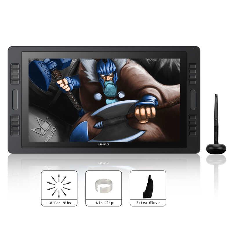 Huion Kamvas Pro 20 2018 19.53 Inci 8192 Tingkat Baterai Gratis Pena Tablet Monitor Grafis Menggambar Pena Display Monitor touch Bar