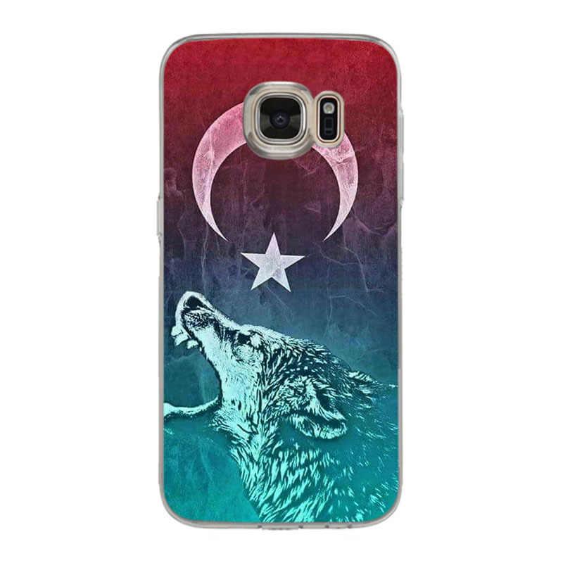 Yinuoda drapeau de turquie loup coque de téléphone souple pour samsung galaxy S9 plus S7 edge S6 edge plus S5 S8 plus étui