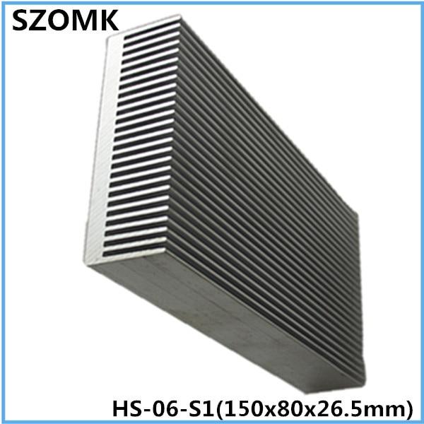10 pcs, aluminum extrusion case heat sink  26.5*80*150mm electronic heatsink computer heatsink instrument case malph шарф