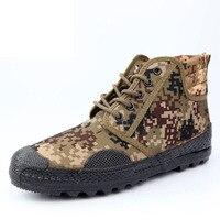 المنتج المهنية التمويه التدريب الأحذية عدم الانزلاق الأحذية جندي الجيش التمويه في الهواء روبر الوحيد أحذية الرجال نوعية جيدة