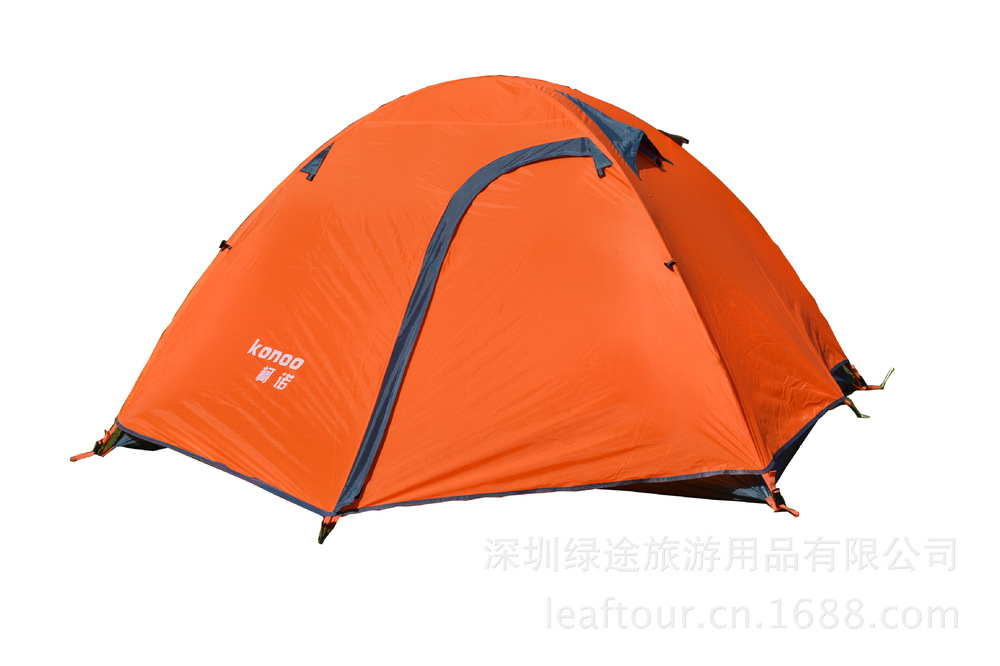 Ultralight 2 People Camping Awning Tent Hiking Trekking Aluminum Rod Outdoor Carpas Waterproof Double Layer Barraca Tente outdoor camping hiking automatic camping tent 4person double layer family tent sun shelter gazebo beach tent awning tourist tent