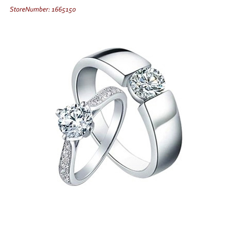 top selling sterling silver fine jewelry couple ring women